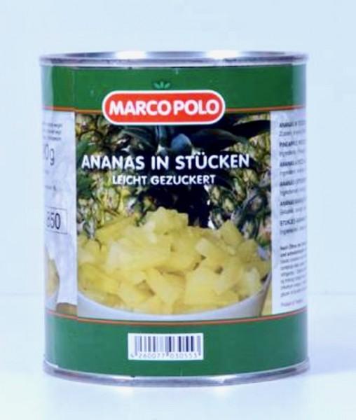 Marco polo Ananas in Stücken 850ml